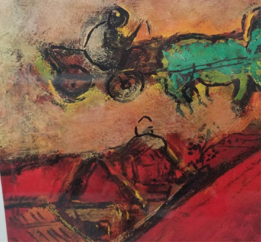 Red-Framed Marc Chagall Print - The Red House - 2