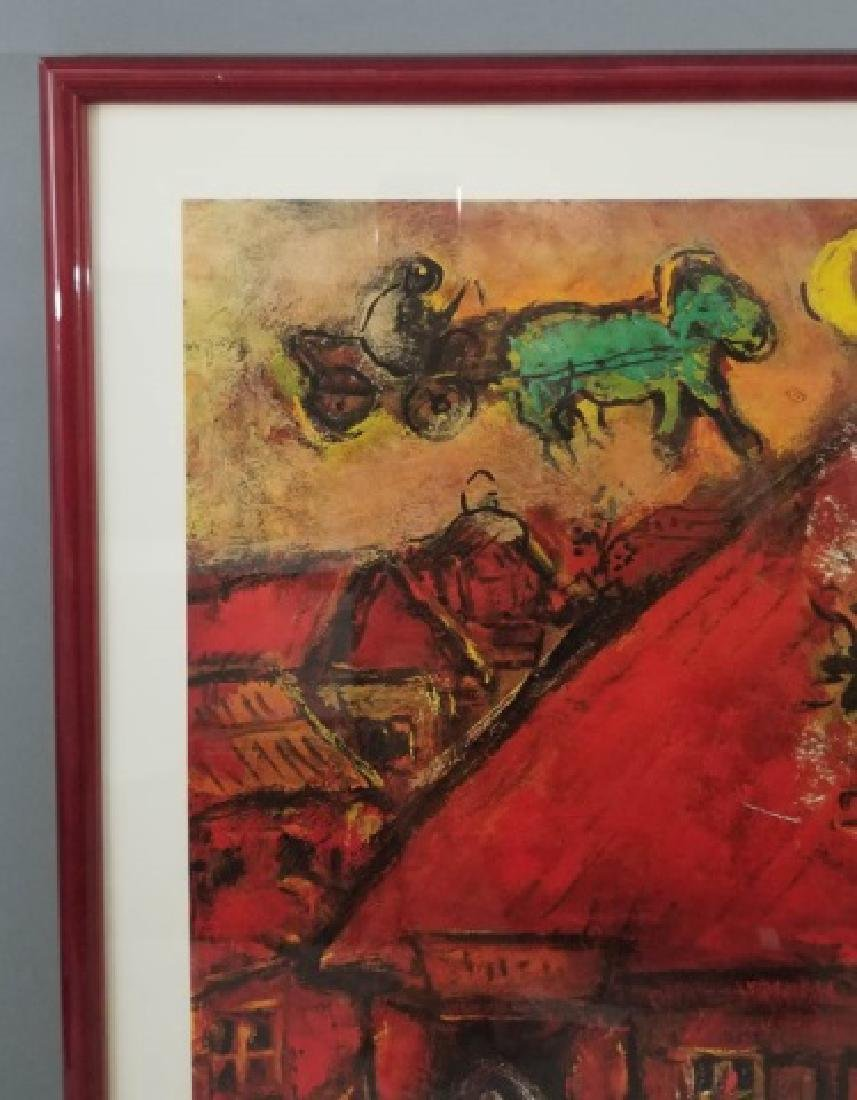 Red-Framed Marc Chagall Print - The Red House - 6