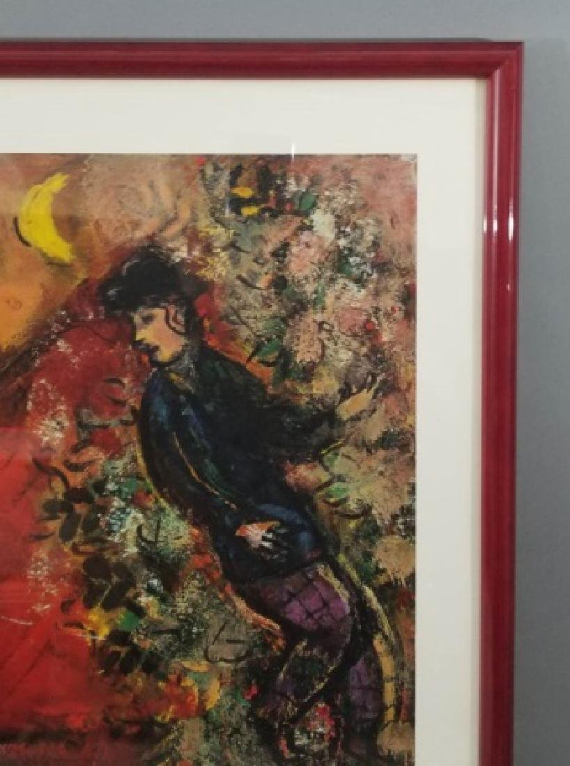 Red-Framed Marc Chagall Print - The Red House - 7