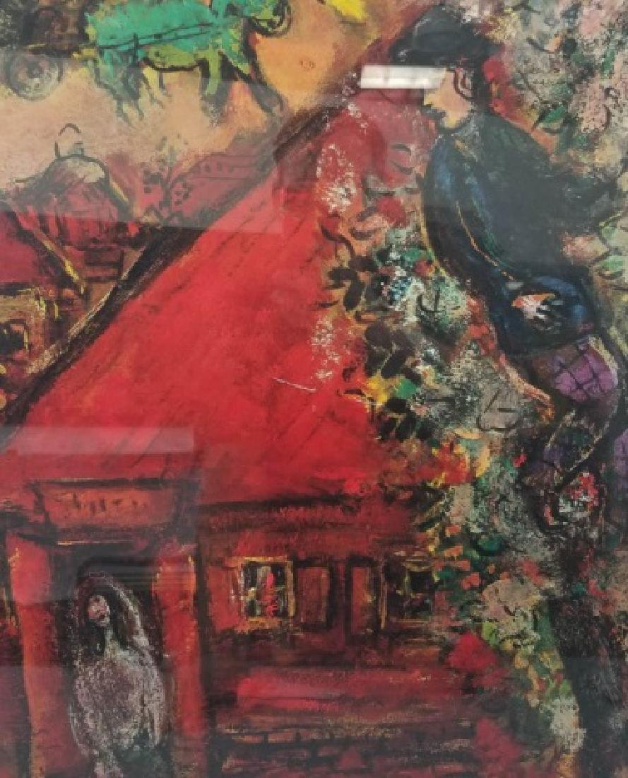 Red-Framed Marc Chagall Print - The Red House - 8