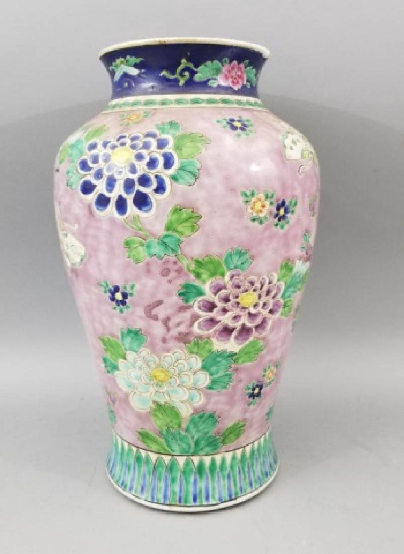 Large Antique Hand Painted Chinese Porcelain Vase - 3