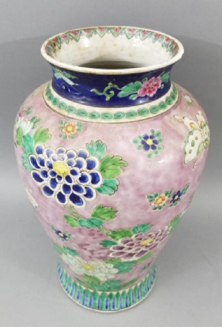 Large Antique Hand Painted Chinese Porcelain Vase - 4