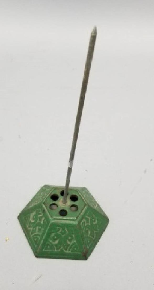 Antique Desk / Counter Card Holder & Receipt Spike - 3