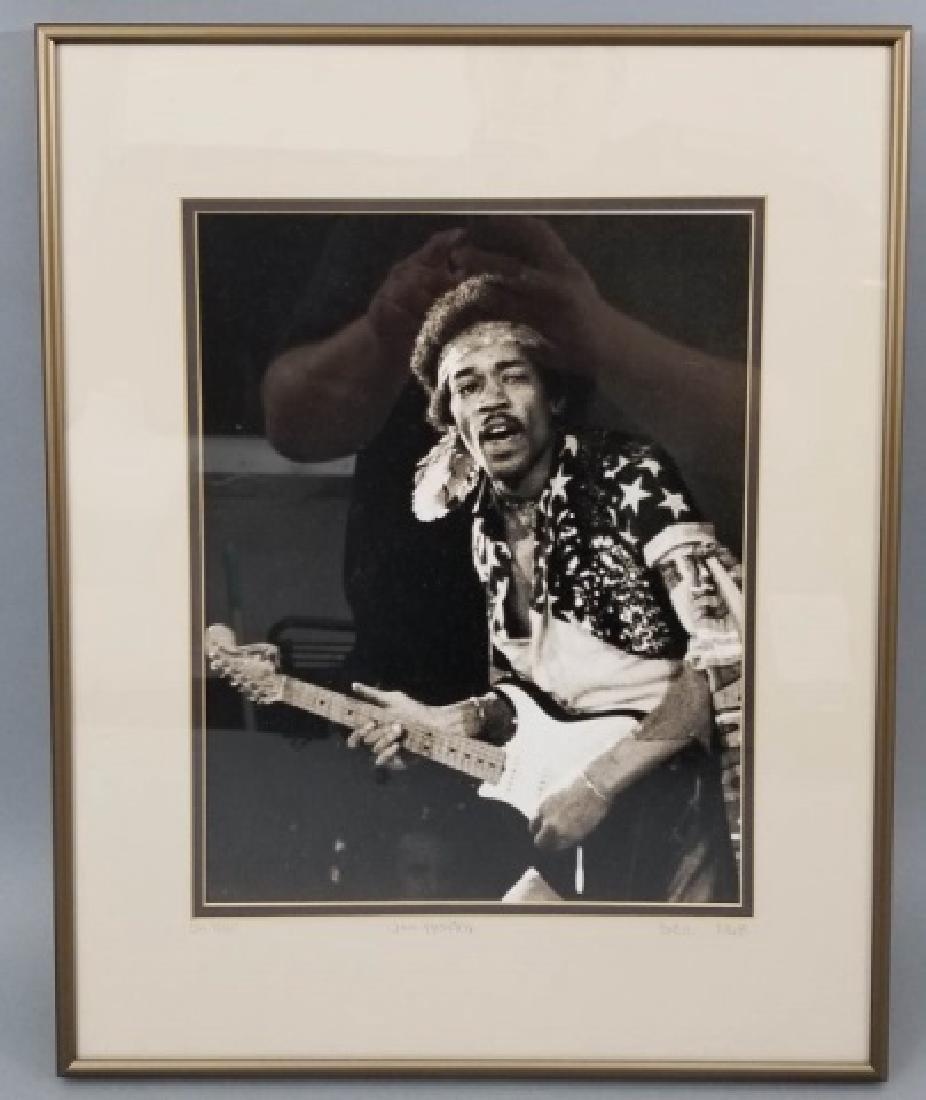 Framed 1968 Jimi Hendrix Photograph
