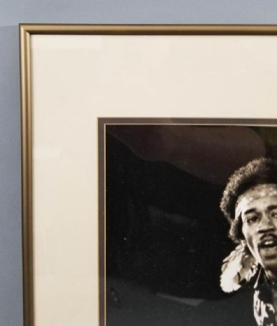 Framed 1968 Jimi Hendrix Photograph - 3
