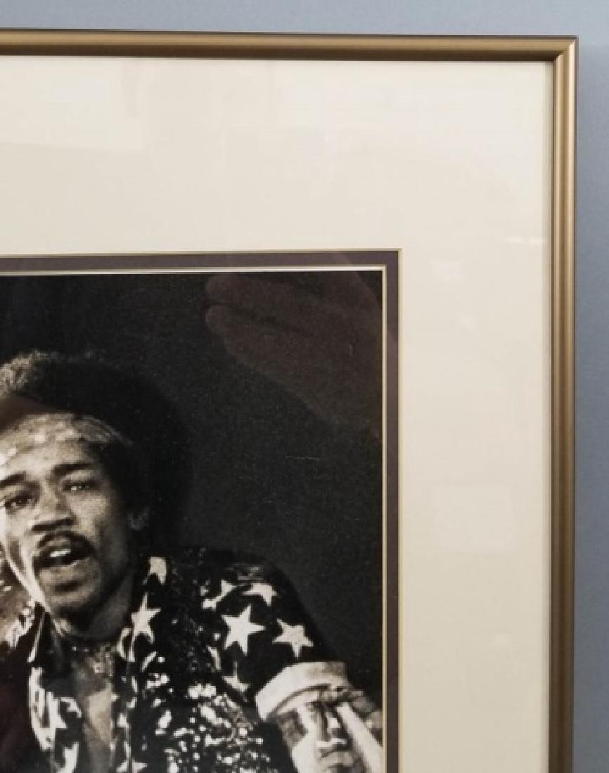 Framed 1968 Jimi Hendrix Photograph - 5