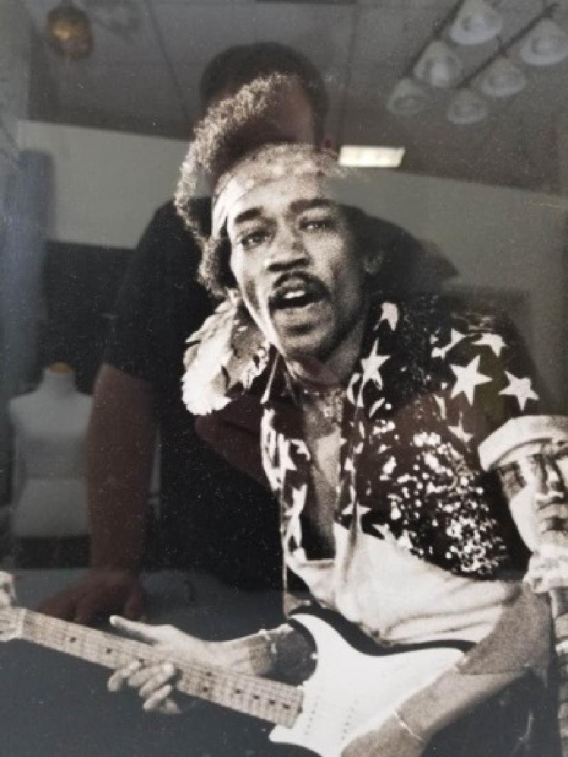 Framed 1968 Jimi Hendrix Photograph - 7