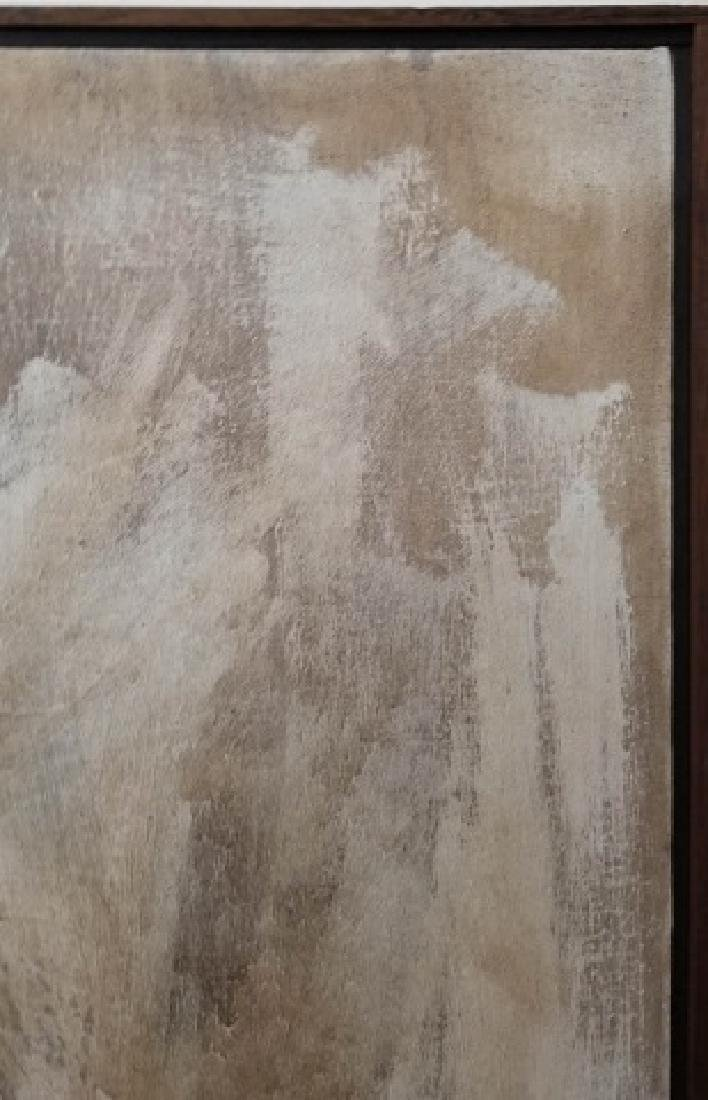 Signed Portrait in Neutrals of Woman, Wood Frame - 5