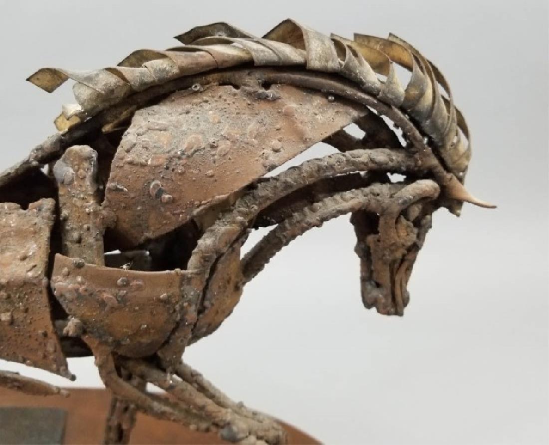 Mid Century Brutalist Style Metal Horse Sculpture - 9