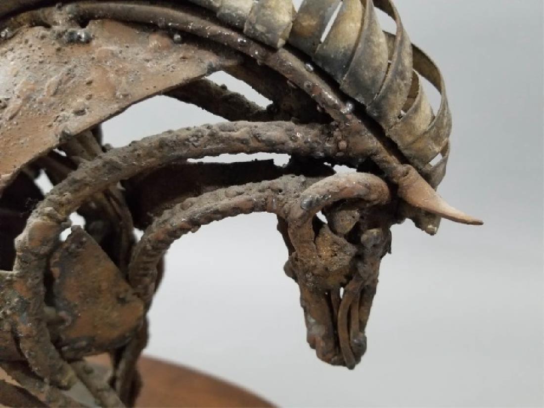 Mid Century Brutalist Style Metal Horse Sculpture - 2