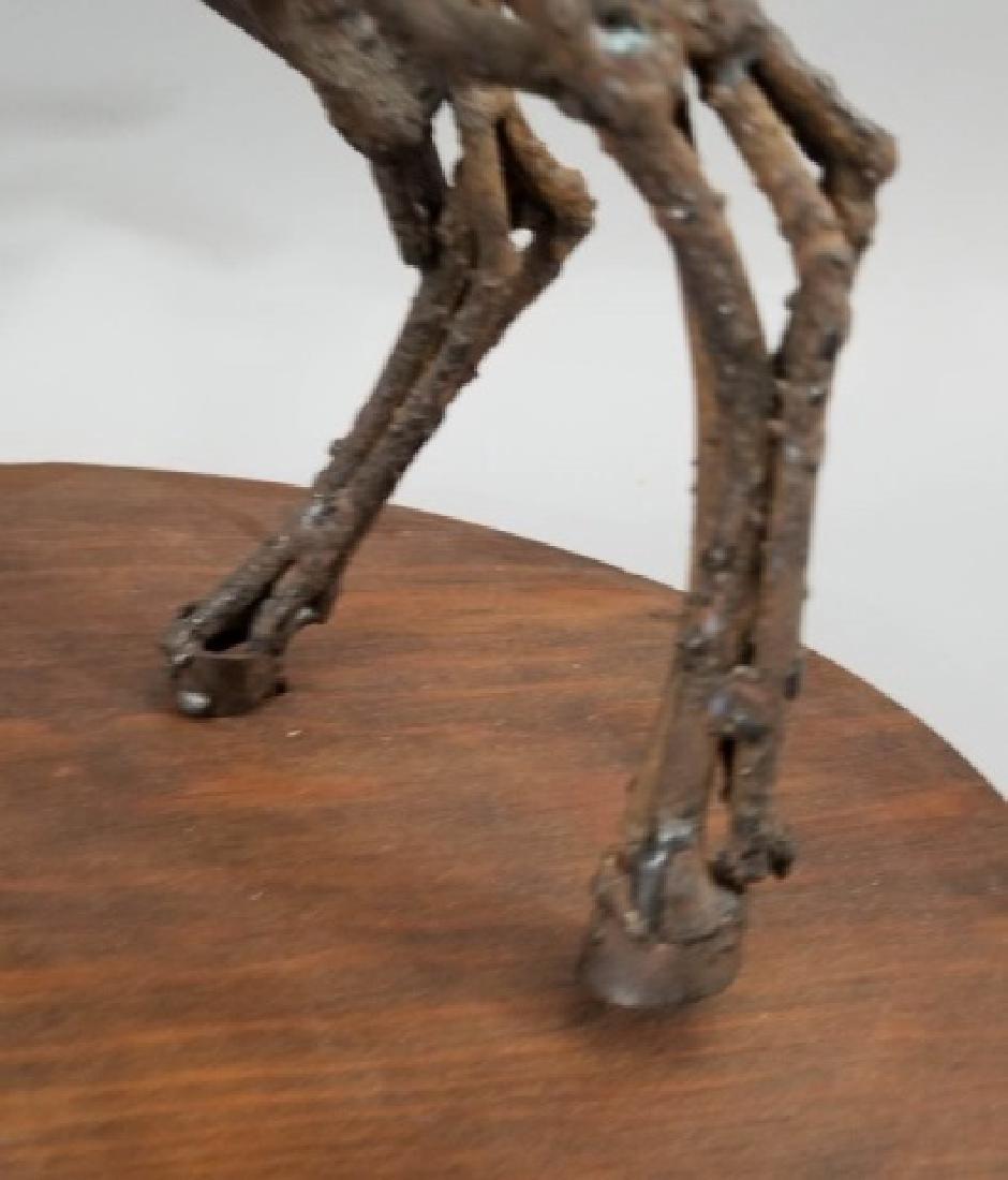 Mid Century Brutalist Style Metal Horse Sculpture - 6