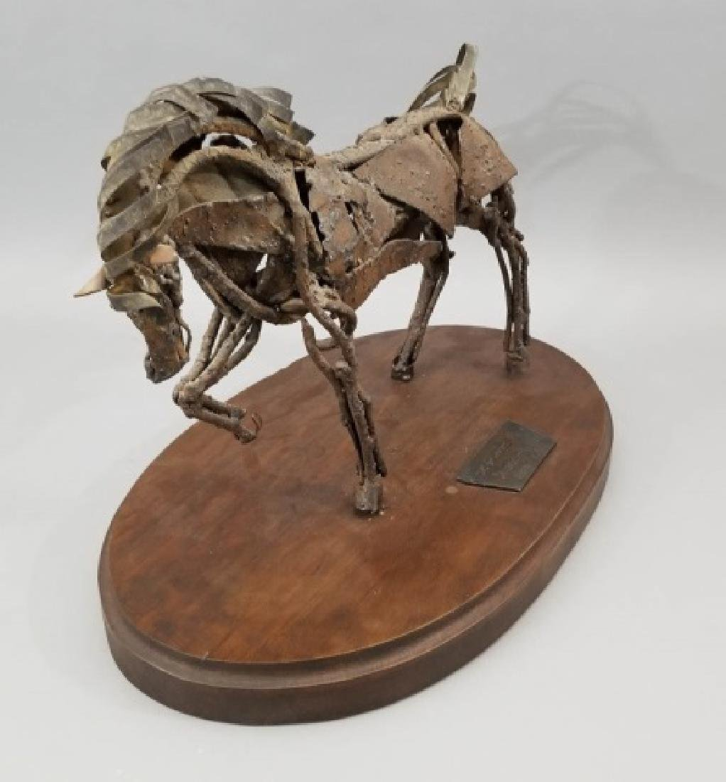 Mid Century Brutalist Style Metal Horse Sculpture - 8