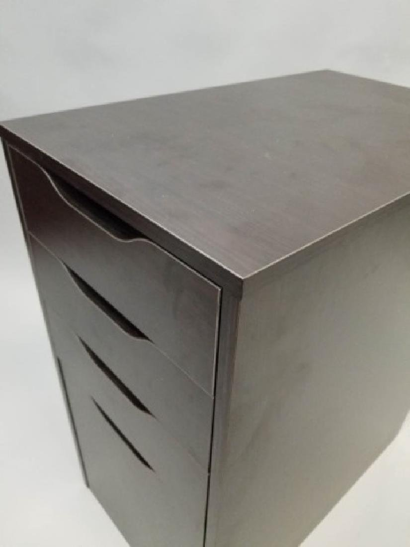 Black Office Cabinet w 4 Self-Pull Drawers(1 of 3) - 2