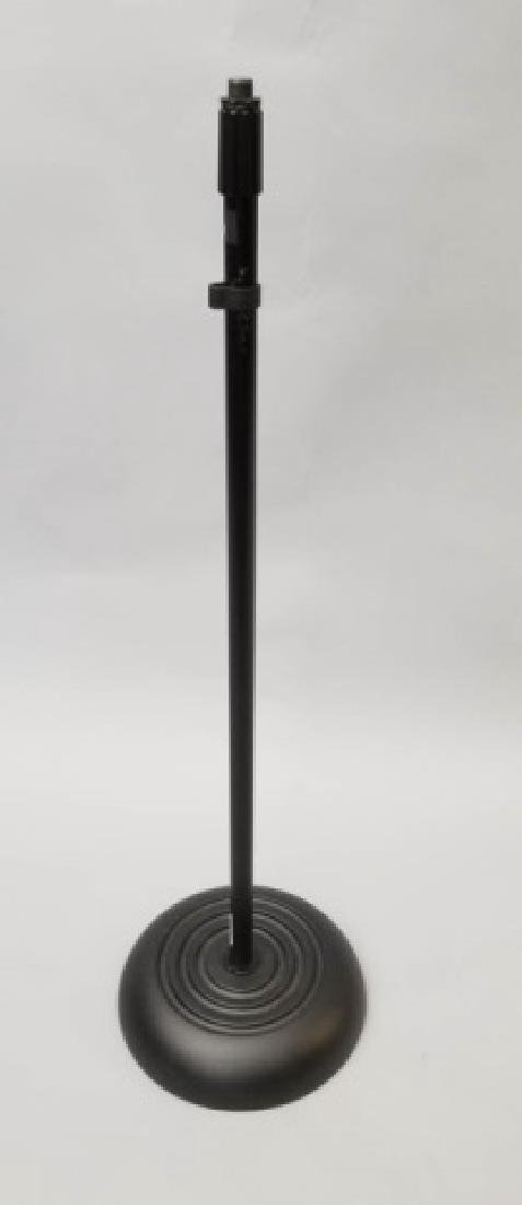 Pair of Round Base Microphone Stands-Adjustable - 3