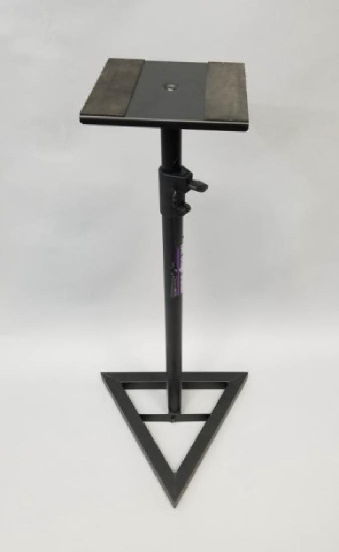Pair of On-Stage Triangle Base Monitor Stands - 3