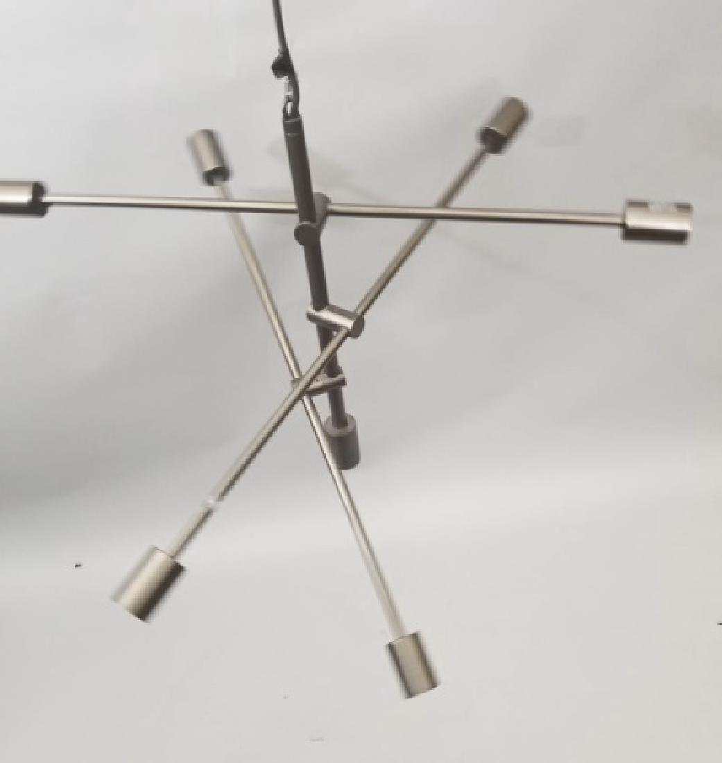 Metallic Sputnik-Style Modern Chandelier