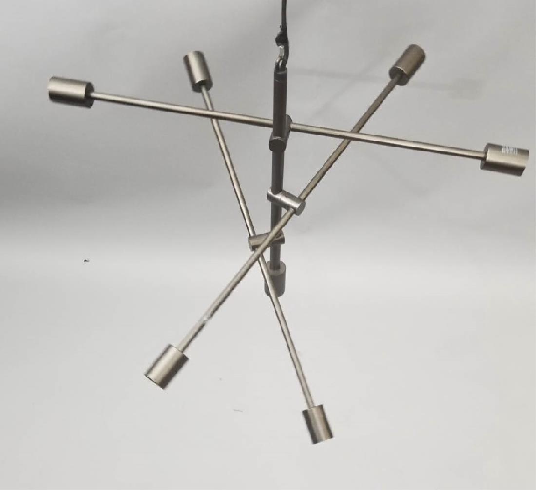 Metallic Sputnik-Style Modern Chandelier - 2
