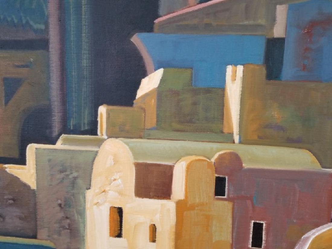 Signed Oil Painting of San Tocini, Greece - 2007 - 4