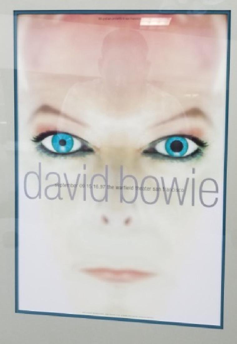 David Bowie 1997 Framed & Matted Show Poster