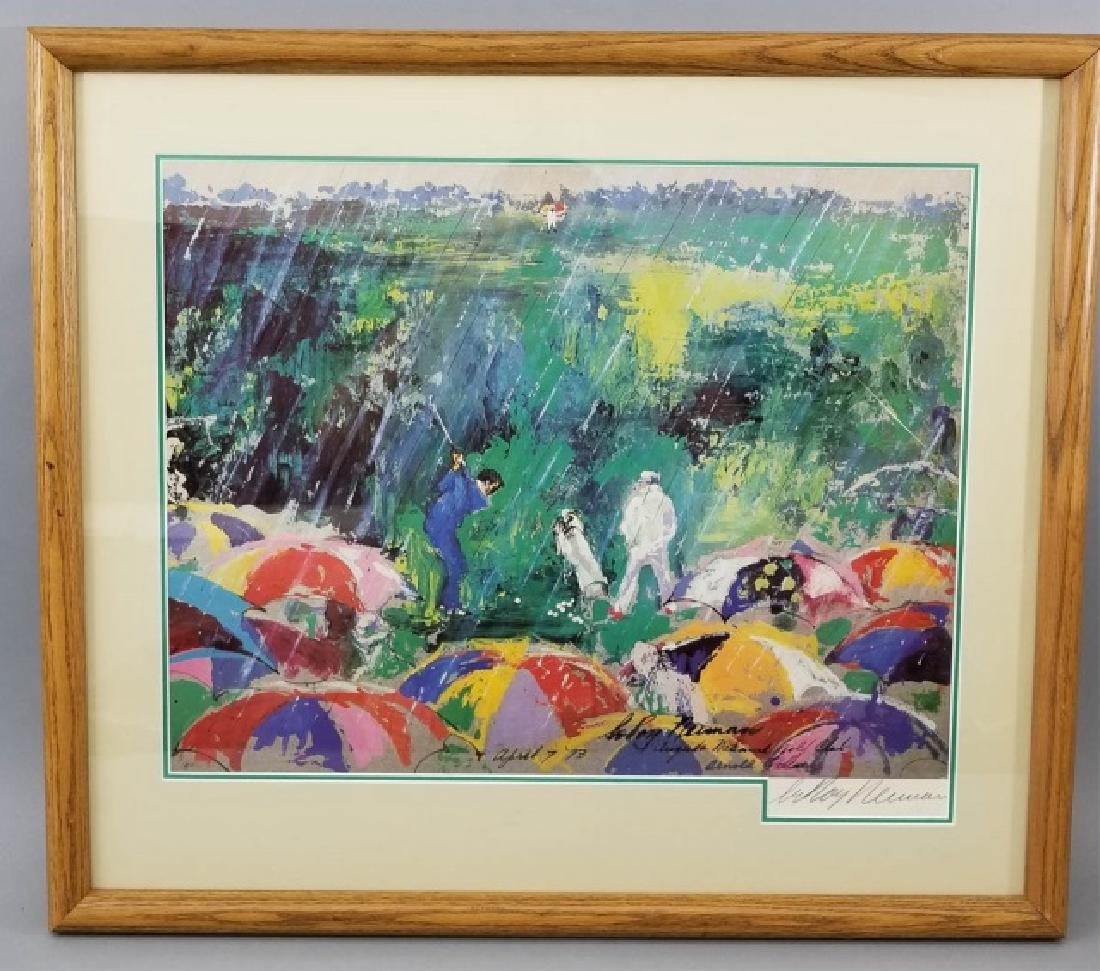 LeRoy Neiman Pencil Signed & Dated Golf Print