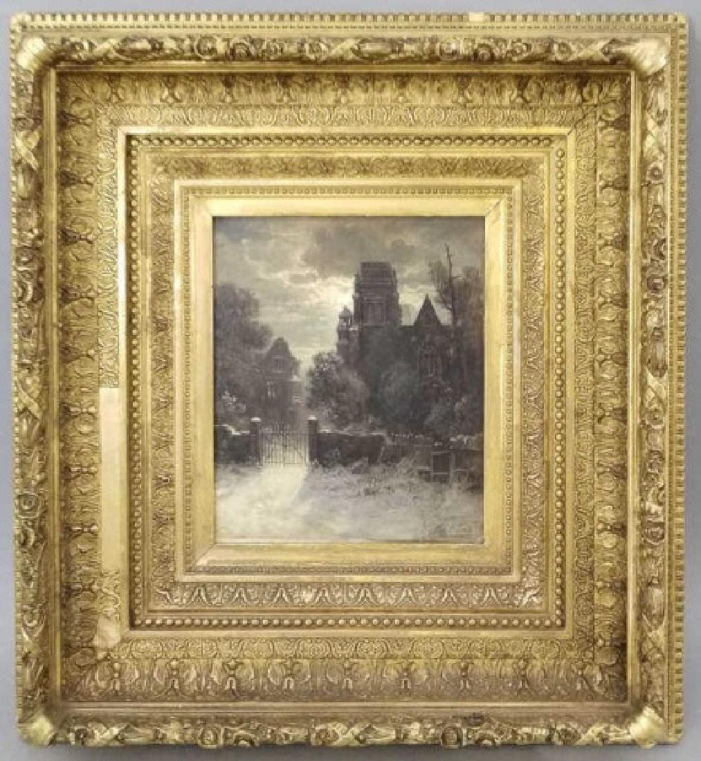 Thomas B Craig Antique Oil Painting Moonlit Scene