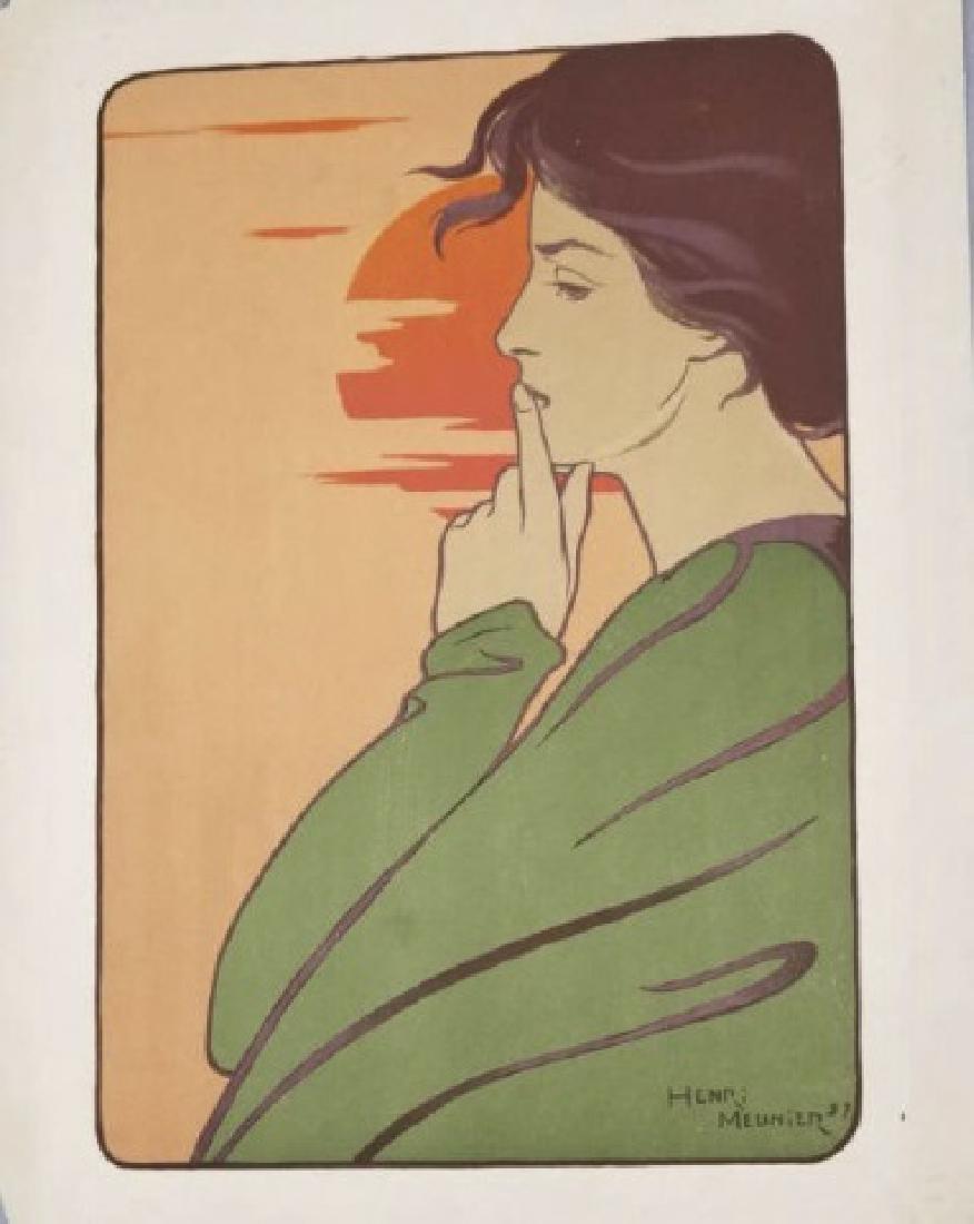 Henri Meunier Art Nouveau Color Lithograph