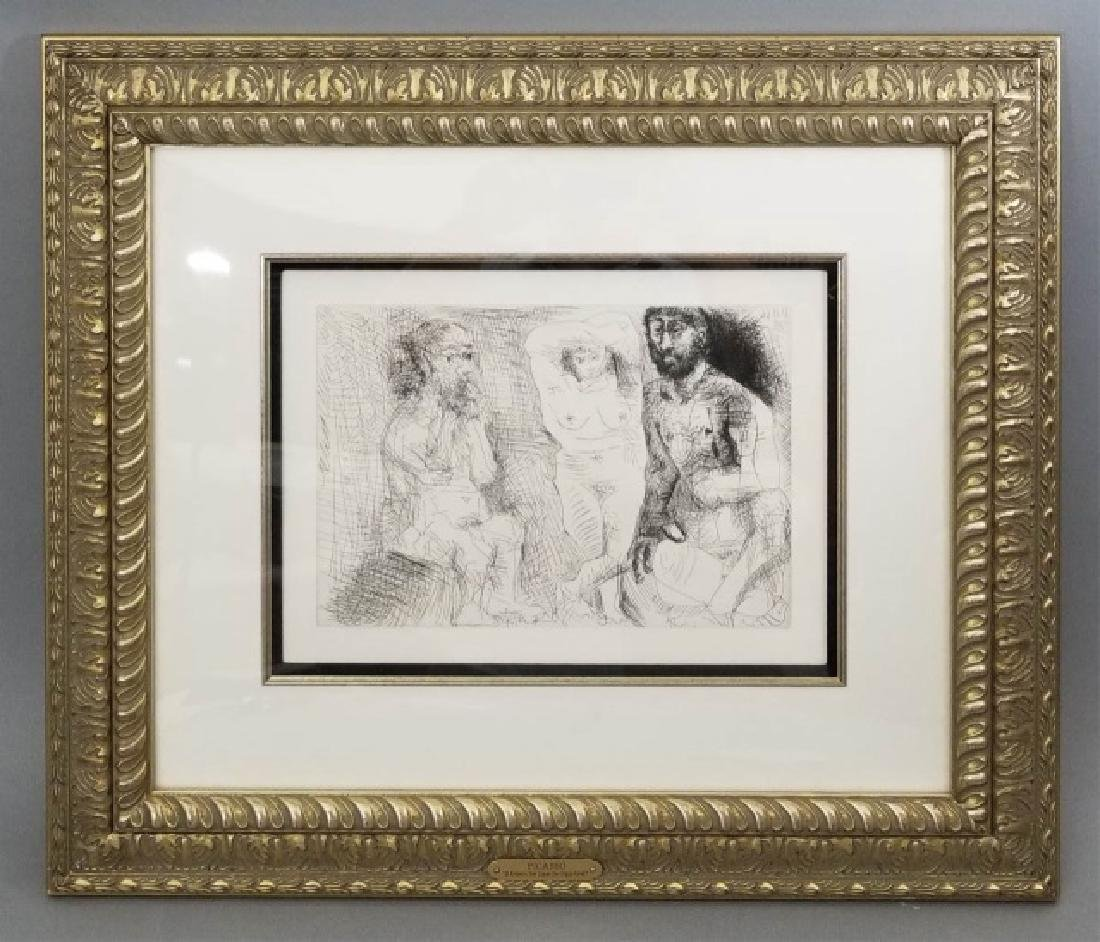 Pablo Picasso Framed Etching w Gallery Certificate