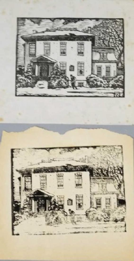 2 Norman Kent Woodblock Ink Prints on Paper