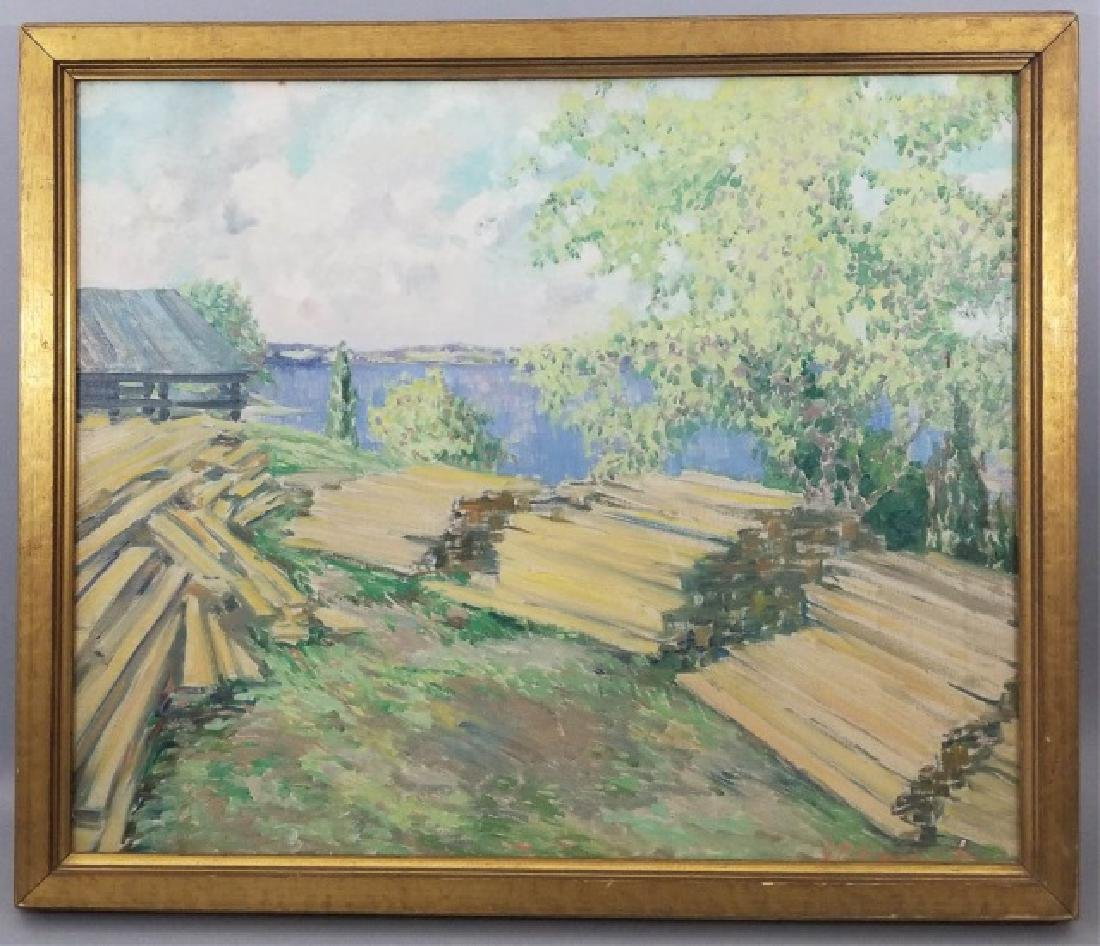 Everett Bryant - Signed & Framed Oil on Canvas