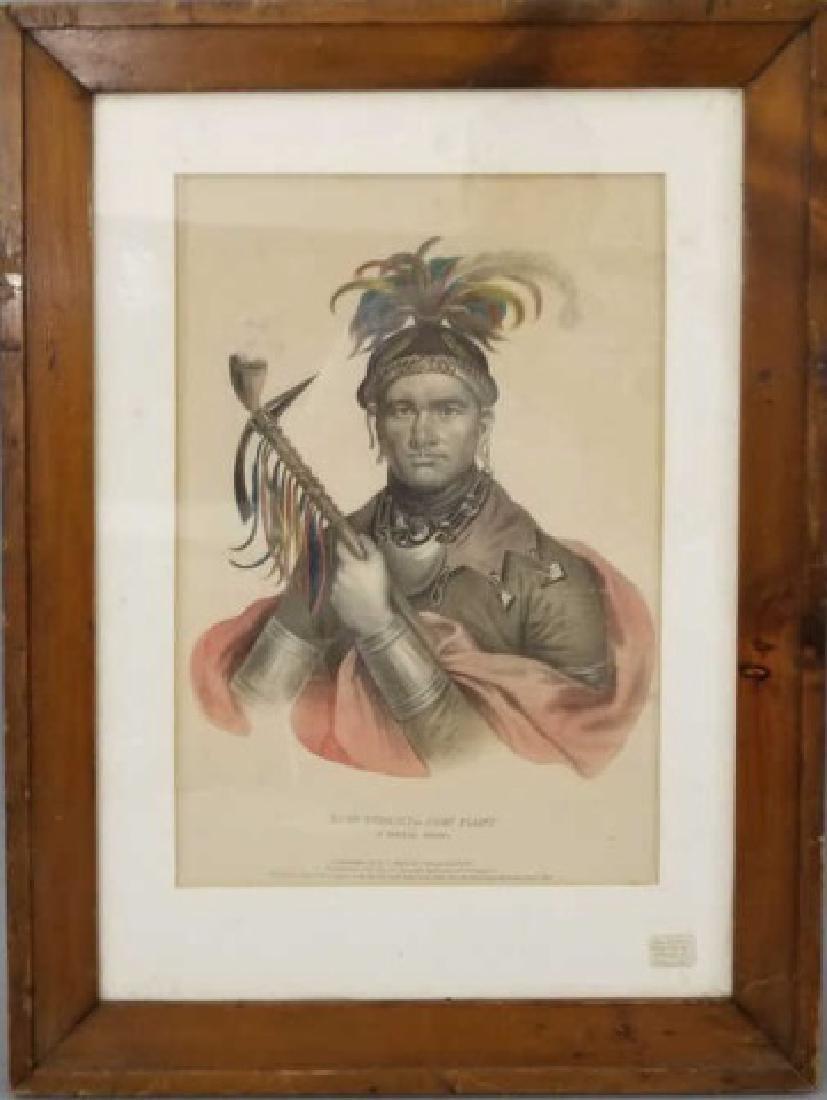 Antique 19th C McKenney & Hall KI-ON-TWOG-KY Print