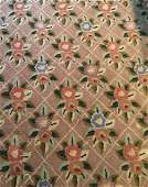 Antique Country American Checker Hooked Carpet