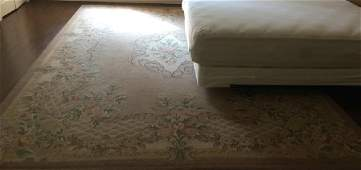 Antique Country American Floral Hooked Carpet