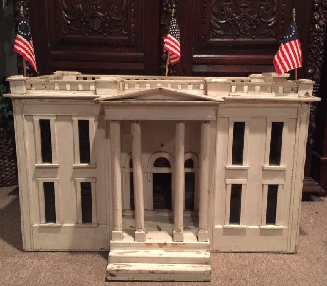 Antique Dollhouse Replica of the White House