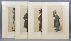 4 19thC Orig Lithos Vanity Fair  Men of the Day