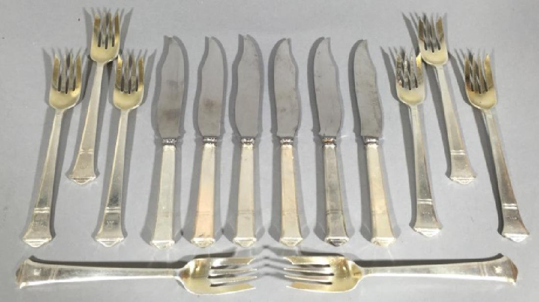 Antique Tiffany & Co Sterling Silver Fish Flatware
