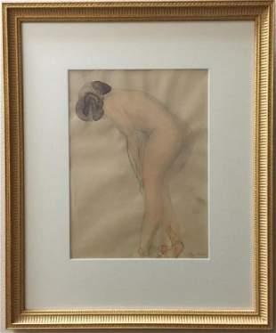 Auguste Rodin Original Painting w Full Provenance