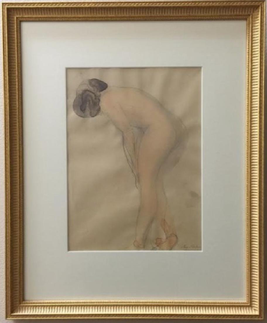 Auguste Rodin Original Painting w Full Provenance