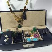 Costume Jewelry Collection w Suede Lined Box