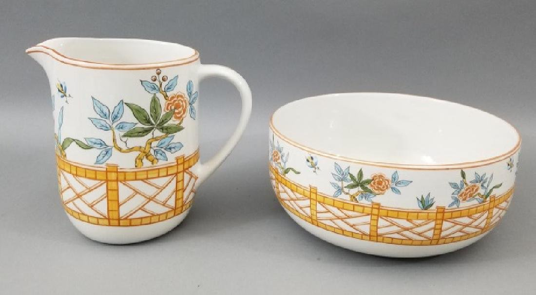 Pair of Tiffany & Co Painted Pottery Pieces