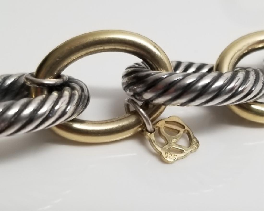 David Yurman XL Link Necklace Sterling & 18k Gold - 3