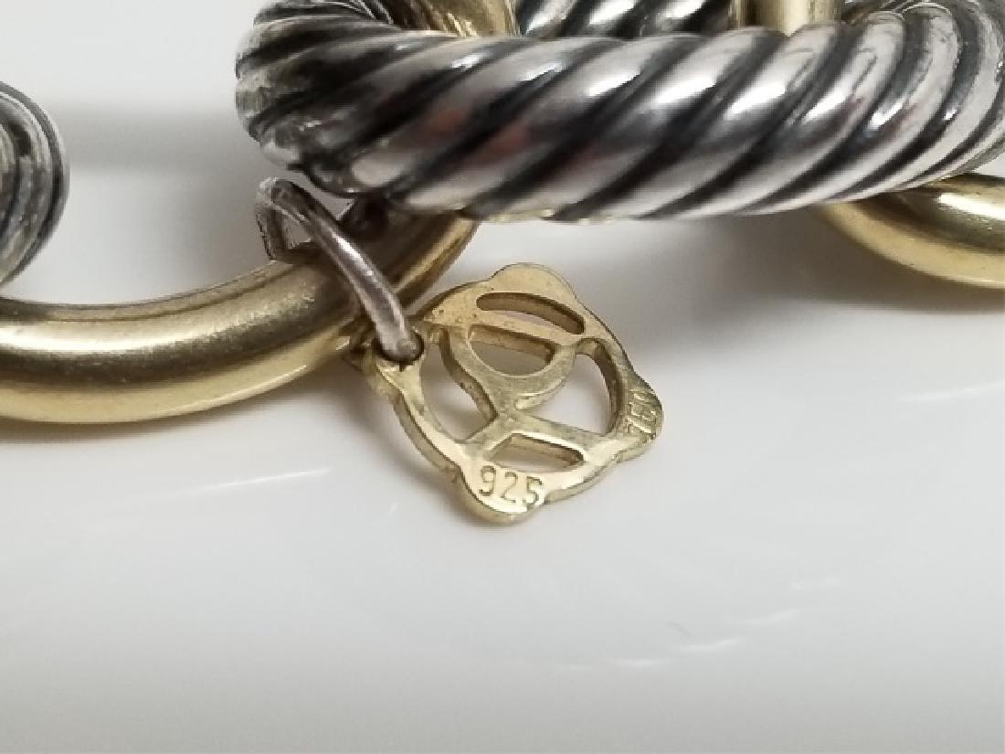 David Yurman XL Link Necklace Sterling & 18k Gold - 4
