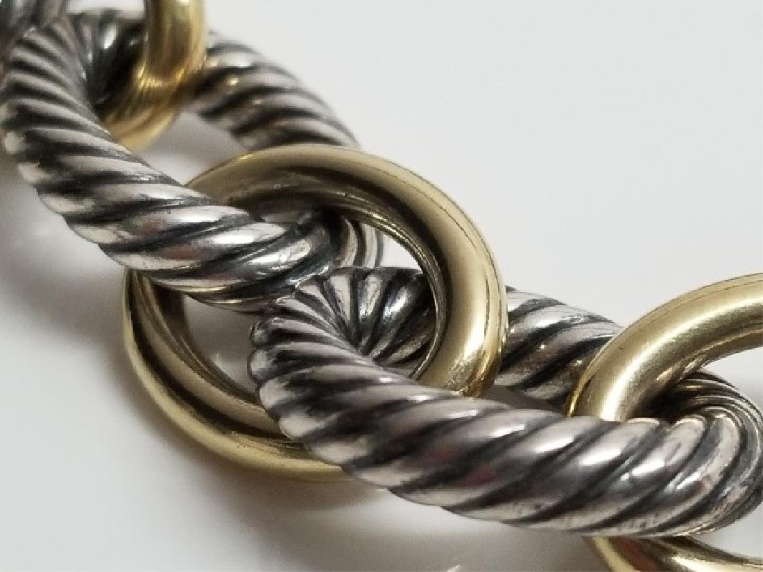 David Yurman XL Link Necklace Sterling & 18k Gold - 5