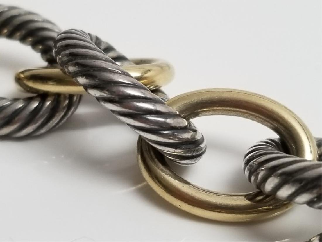 David Yurman XL Link Necklace Sterling & 18k Gold - 6
