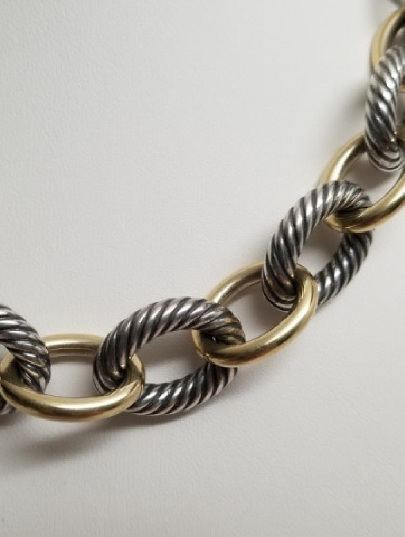 David Yurman XL Link Necklace Sterling & 18k Gold - 8