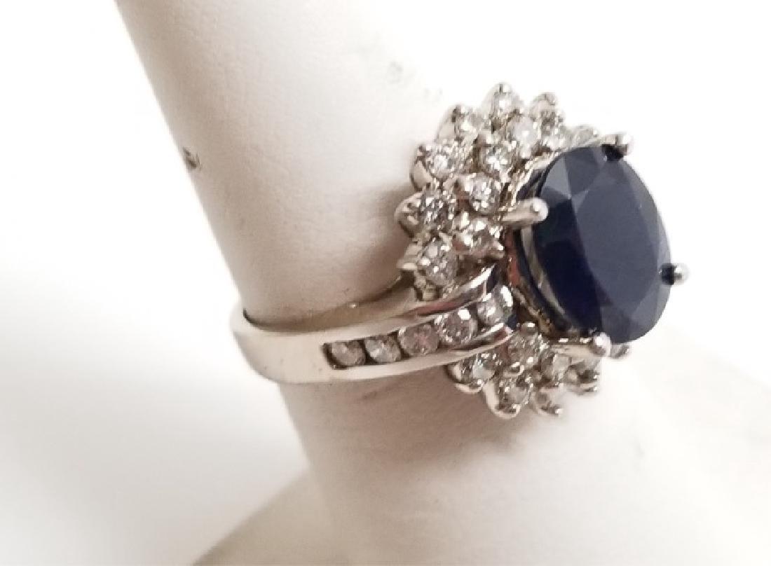Estate 1 Carat Diamond & 3 Carat Sapphire Ring