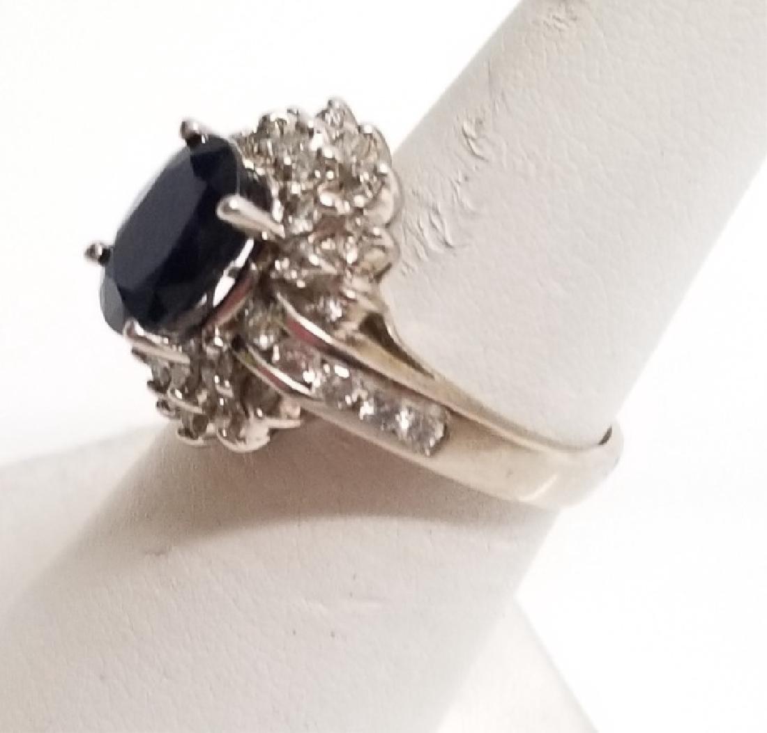 Estate 1 Carat Diamond & 3 Carat Sapphire Ring - 2