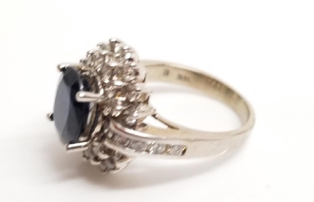 Estate 1 Carat Diamond & 3 Carat Sapphire Ring - 5
