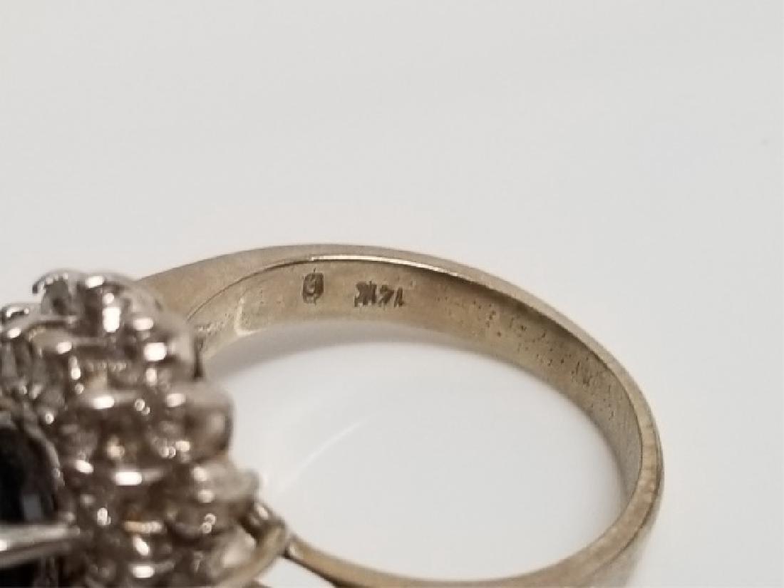 Estate 1 Carat Diamond & 3 Carat Sapphire Ring - 6