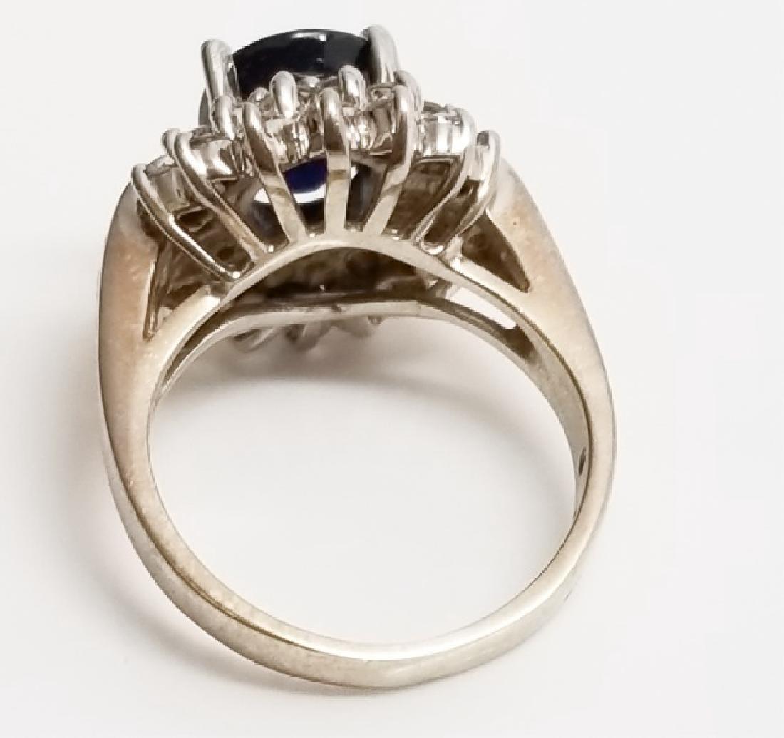 Estate 1 Carat Diamond & 3 Carat Sapphire Ring - 7