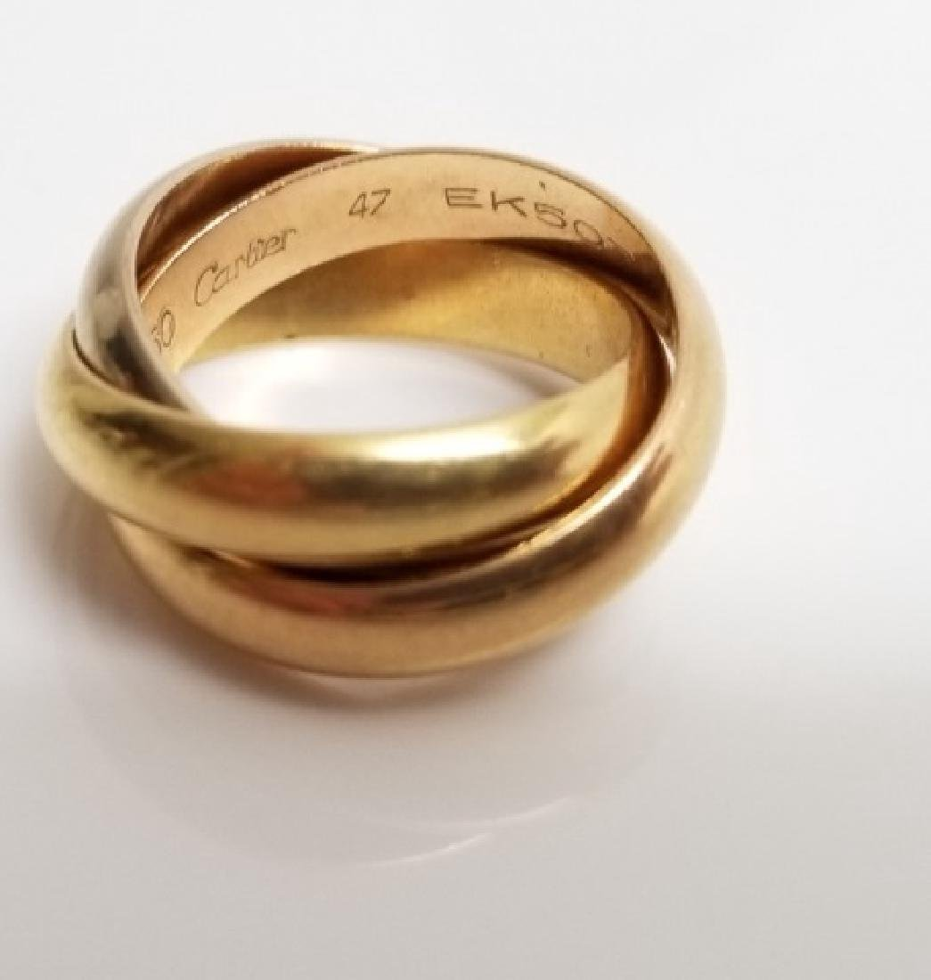 Estate Cartier 18kt Trinity Rolling Band Ring - 4